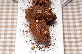 chocolate mousse quenelle dessert