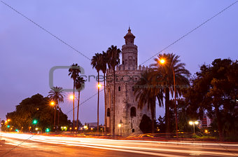 Torre del Oro in Sevilla, Spain