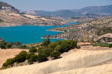 Embalse de Zahara lake close to Zahara de la Sierra