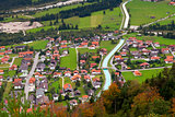 little alpine town Wallgau