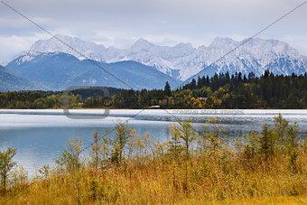beautiful Alps in autumn