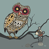 Decorative Owl and  Mouse.