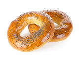 Bagels with poppy seeds