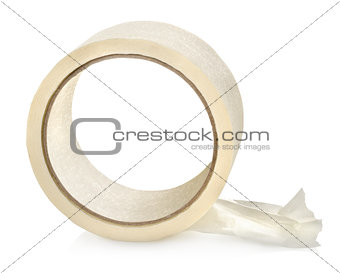 Big roll of insulating tape isolated