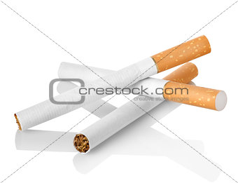 Cigarettes with orange filter