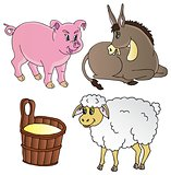 Farm animals theme collection