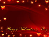 happy valentine&#39;s day in red