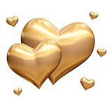 golden hearts 3d