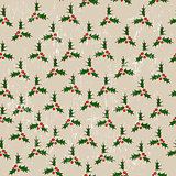 Seamless texture with mistletoe.