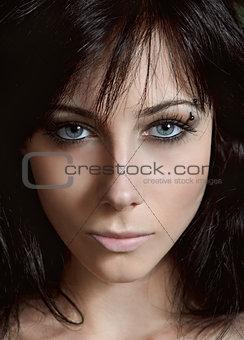 Beauty shot: closeup portrait of pretty young girl