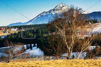 Scenic areas around Zakopane, Poland