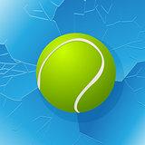 Tennis ball and window