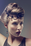 Bright fashion beauty girl - fantasy, glamour and accessories
