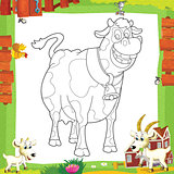 The coloring plate - farm