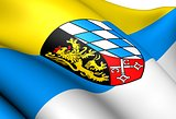 Flag of Upper Palatinate, Germany. 
