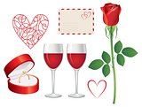 Valentine day icon set