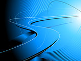 Abstract Blue Road Background