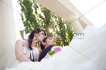 couple in columns