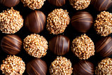 chocolate pralines background