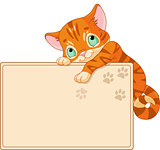Cute kitten Invite or Placard