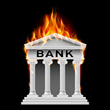 Bank building symbol