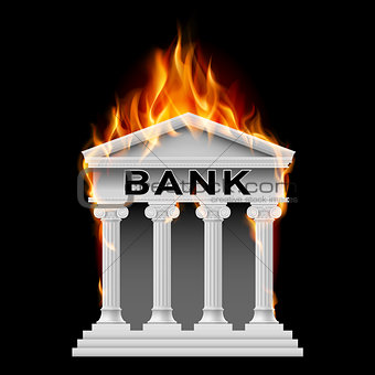 Bank building symbol