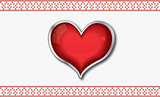 Valentine`s card with heart
