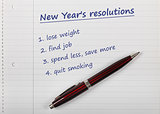 new year&#39;s resolutions list