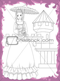 The coloring book - princess