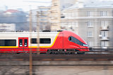 Speeding Train, Warsaw, Poland.