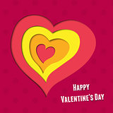 vector background on Valentine&#39;s Day
