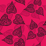 Vector flourish background black and pink colored