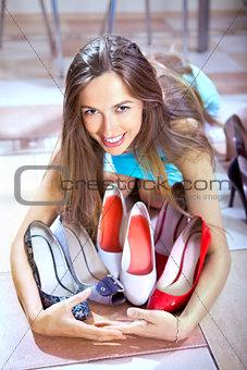 shopaholic with shoes