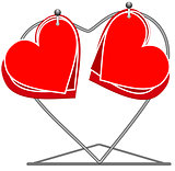 Hearts on a rack