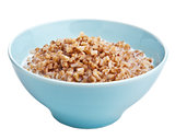 buckwheat groats with milk isolated