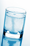 tablet in glass of water