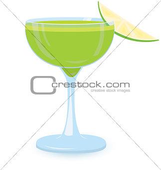 Green cocktail vector illustration