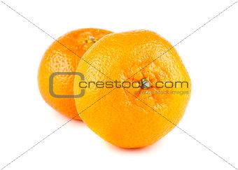 Pair of ripe tangerines
