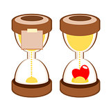sandglass deadline time vector