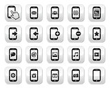 Smartphone / mobile or cell phone buttons set