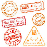 Premium Pork Rubber Stamps