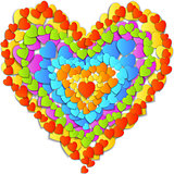 vector Valentine's Day Card with  beautiful colorful heart