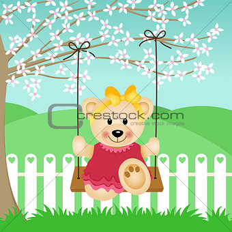 Little Bear on Swing