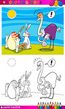 easter bunny humor cartoon for coloring