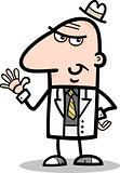 businessman in suit cartoon illustration