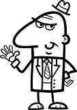 man in suit cartoon illustration