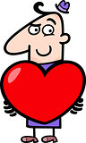 man with valentine cartoon illustration