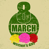 Vintage women&#39;s day background