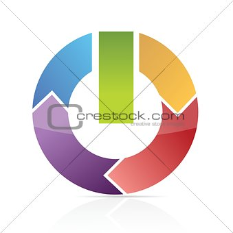 Abstract power symbol with bars illustration