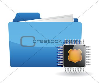 folder and chip